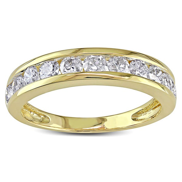Miadora Signature Collection 14k Gold 1ct TDW Diamond Anniversary Band