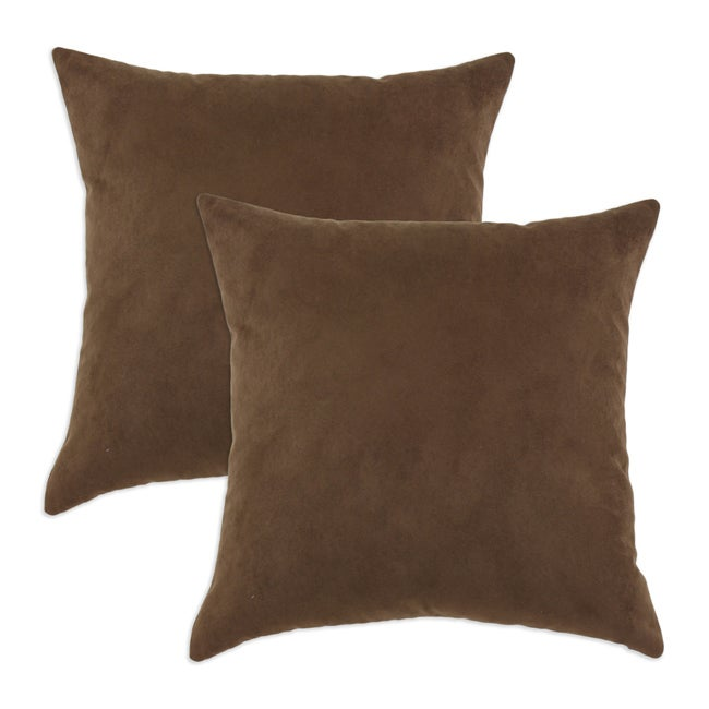 Victory Lane Chocolate Simply Soft S-backed Decorative Pillows (Set of 2)