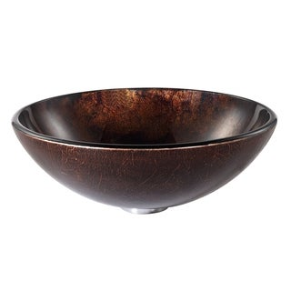KRAUS Jupiter Glass Vessel Sink in Brown