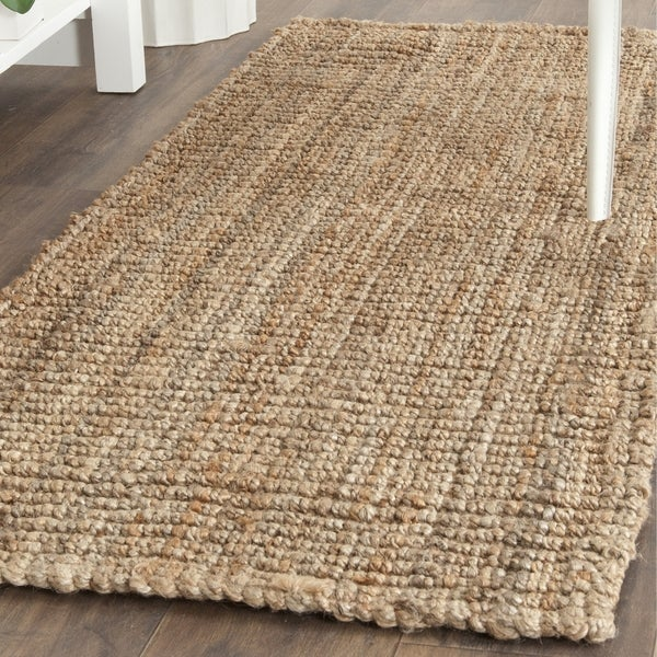 Safavieh Casual Natural Fiber Hand-Woven Natural Accents Chunky Thick Jute Rug (2'6 x 18')