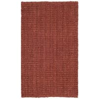 Safavieh Casual Natural Fiber Hand-Woven Rust Chunky Thick Jute Rug - 2'6 x 4'