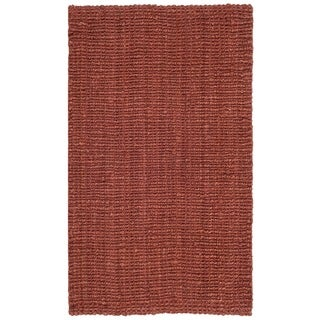 Safavieh Casual Natural Fiber Hand-Woven Rust Chunky Thick Jute Rug (2'6 x 4')