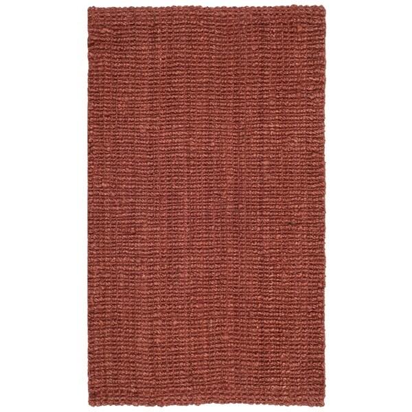 Safavieh Casual Natural Fiber Hand-Woven Rust Chunky Thick Jute Rug (2'6 x 4')