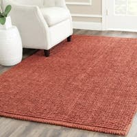 Safavieh Casual Natural Fiber Hand-Woven Rust Chunky Thick Jute Rug - 3' x 5'