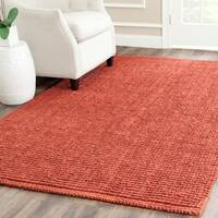 Safavieh Casual Natural Fiber Hand-Woven Rust Chunky Thick Jute Rug (6' x 9')