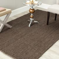 "Safavieh Casual Natural Fiber Hand-Woven Brown Chunky Thick Jute Rug - 2'6"" x 4'"