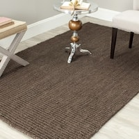 Safavieh Casual Natural Fiber Hand-Woven Brown Chunky Thick Jute Rug - 2'6 x 4'