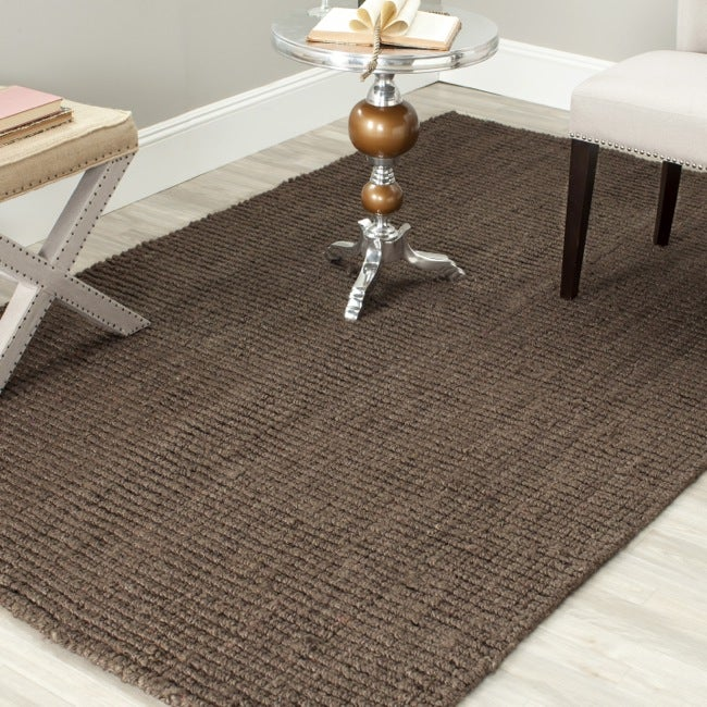 Safavieh Casual Natural Fiber Hand-Woven Brown Chunky Thick Jute Rug (3' x 5')