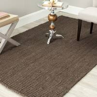 Safavieh Casual Natural Fiber Hand-Woven Brown Chunky Thick Jute Rug - 3' x 5'