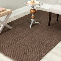 Safavieh Handmade Natural Fiber Barbados Chunky Thick Brown Jute Rug - 6' x 9'