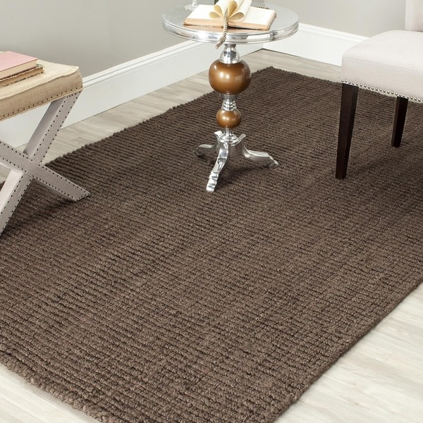 Safavieh Casual Natural Fiber Hand-Woven Brown Chunky Thick Jute Rug (6' x 9')