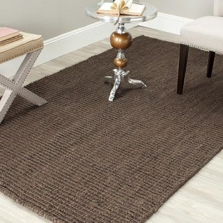 Safavieh Casual Natural Fiber Hand-Woven Brown Chunky Thick Jute Rug (6' Square)