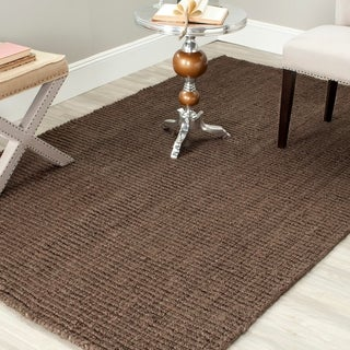 Safavieh Casual Natural Fiber Hand-Woven Brown Chunky Thick Jute Rug (9' x 12')