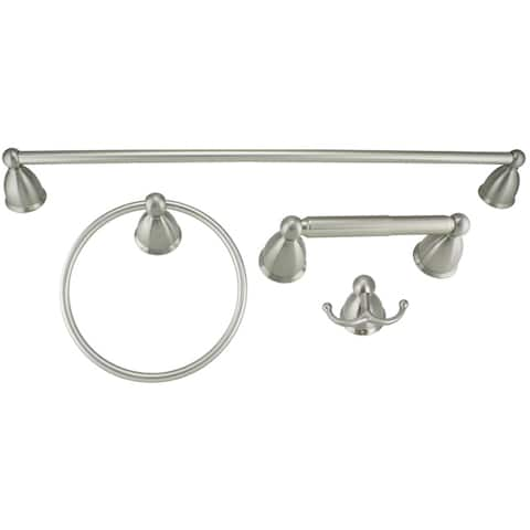 Danze Rosemont Brushed-Nickel-Finish Metal Bath Accessory Set