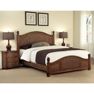 Marco Island Refined Cinnamon King Size Bed And Night Stand By Home Styles