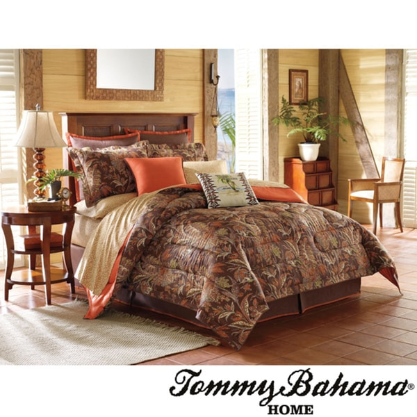 Tommy Bahama Tiki Bay 4-piece Brown Patterned Comforter Set