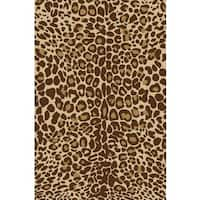 "Well Woven Animal Prints Leopard Gold Non-Skid Area Rug - 3'3"" x 5'3"""