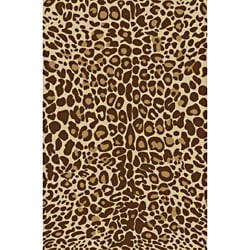 Animal Prints Leopard Gold Non-Skid Area Rug (5' X 7')