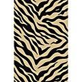 Animal Prints Zebra Black Non-Skid Area Rug (3'3 x 5'3)