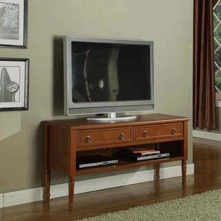 K&B Walnut Finish TV Stand