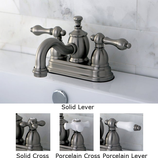 Victorian Spout Satin Nickel Finished Br Bathroom Faucet