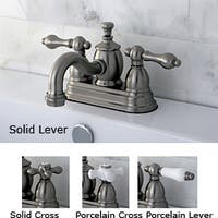 Victorian Spout Satin-Nickel-Finished Brass Bathroom Faucet