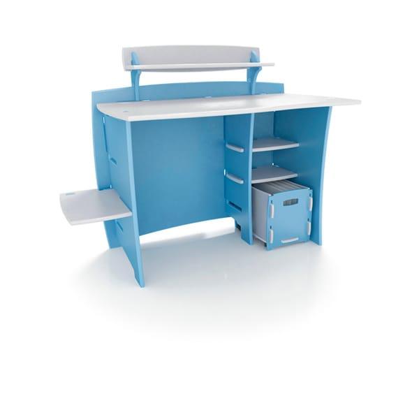 Legare Kids' Blue/ White Desk with File Cart