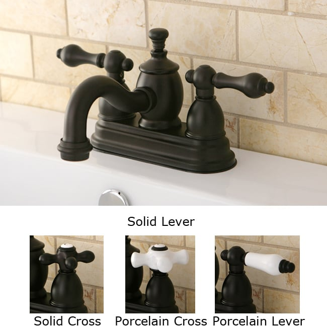 Victorian Spout Oil Rubbed Bronze Bathroom Faucet