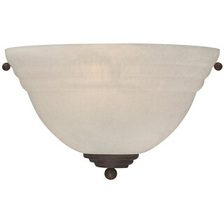 Transitional 1 Light Olde Brick Finish Wall Sconce
