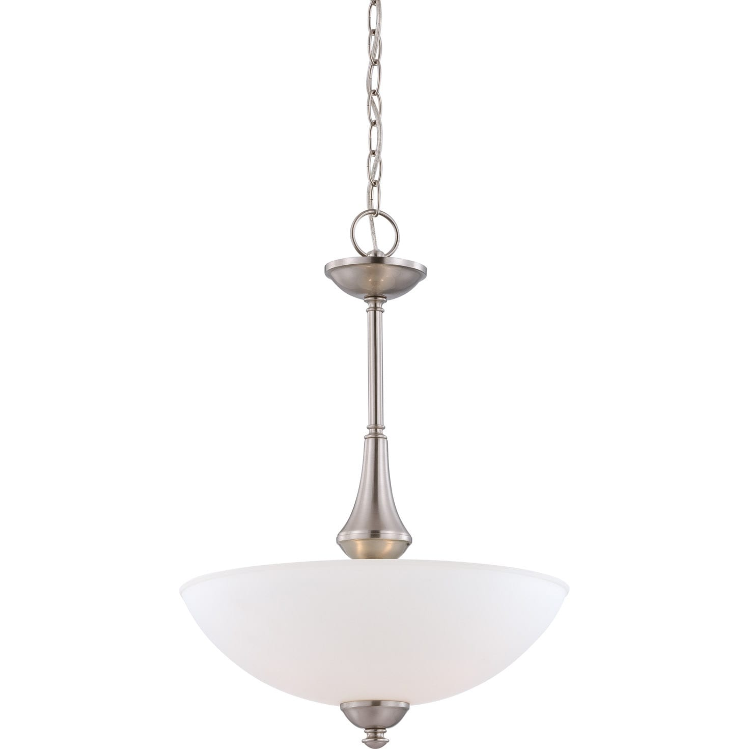 Nuvo Patton 3-light Brushed Nickel Fluorescent Pendant