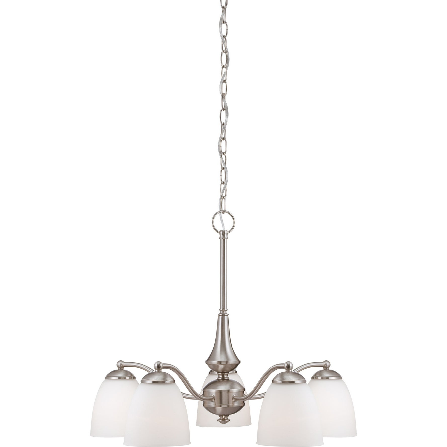 Nuvo Patton 5-light Brushed Nickel Fluorescent Chandelier