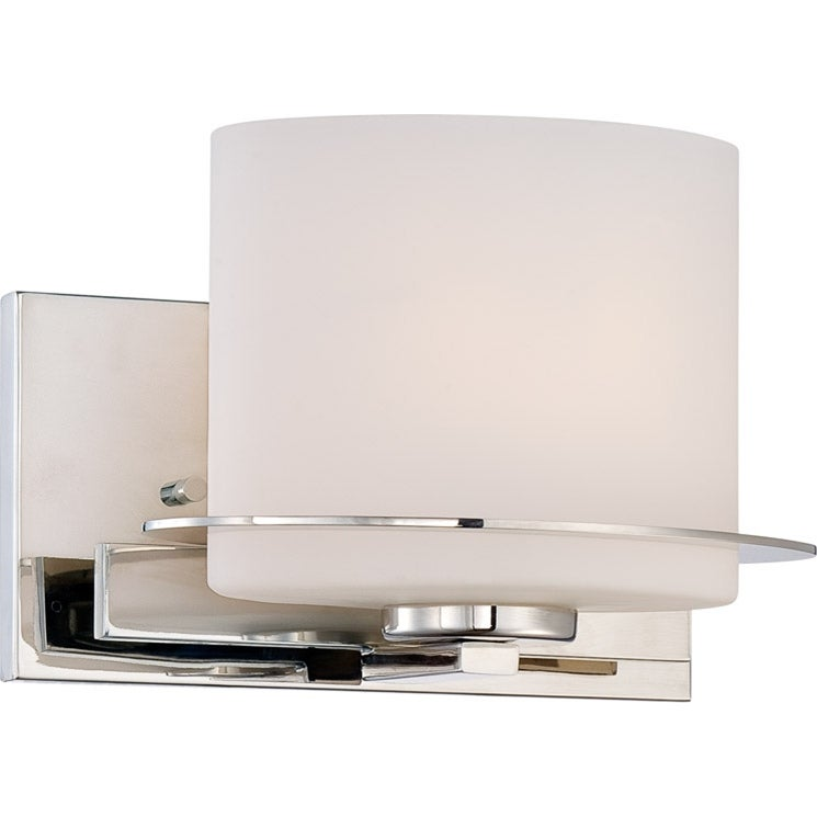 Nuvo Loren 1-light Polished Nickel Vanity Fixture