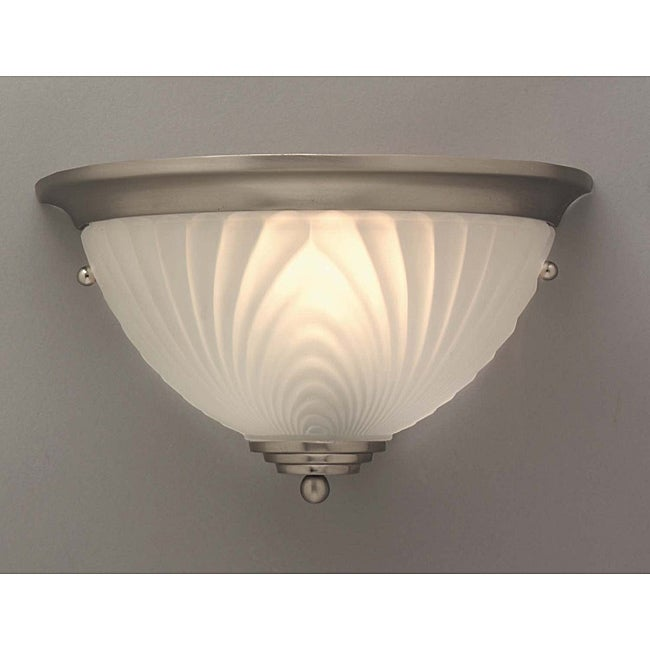 Transitional 1 Light Brushed Nickel Wall Sconce Free
