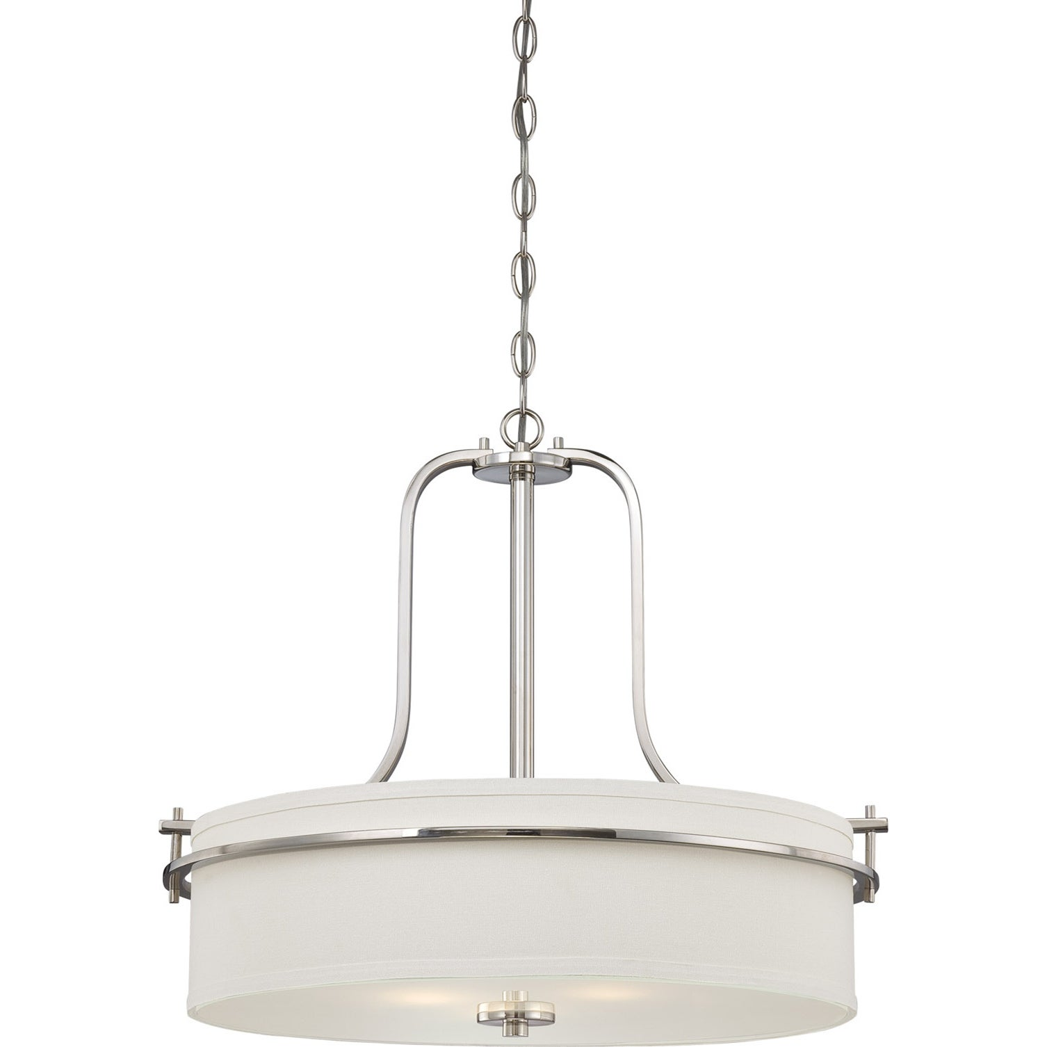 Nuvo Loren 3-light Polished Nickel Pendant