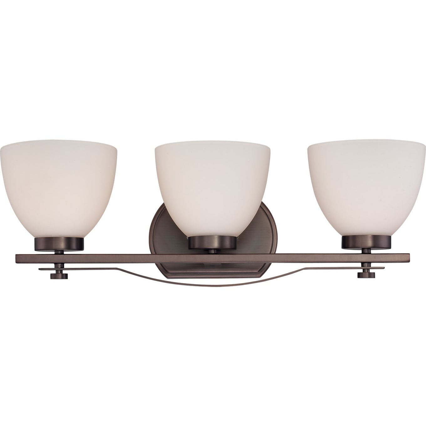 Nuvo Bentley 3-light Hazel Bronze Vanity Fixture