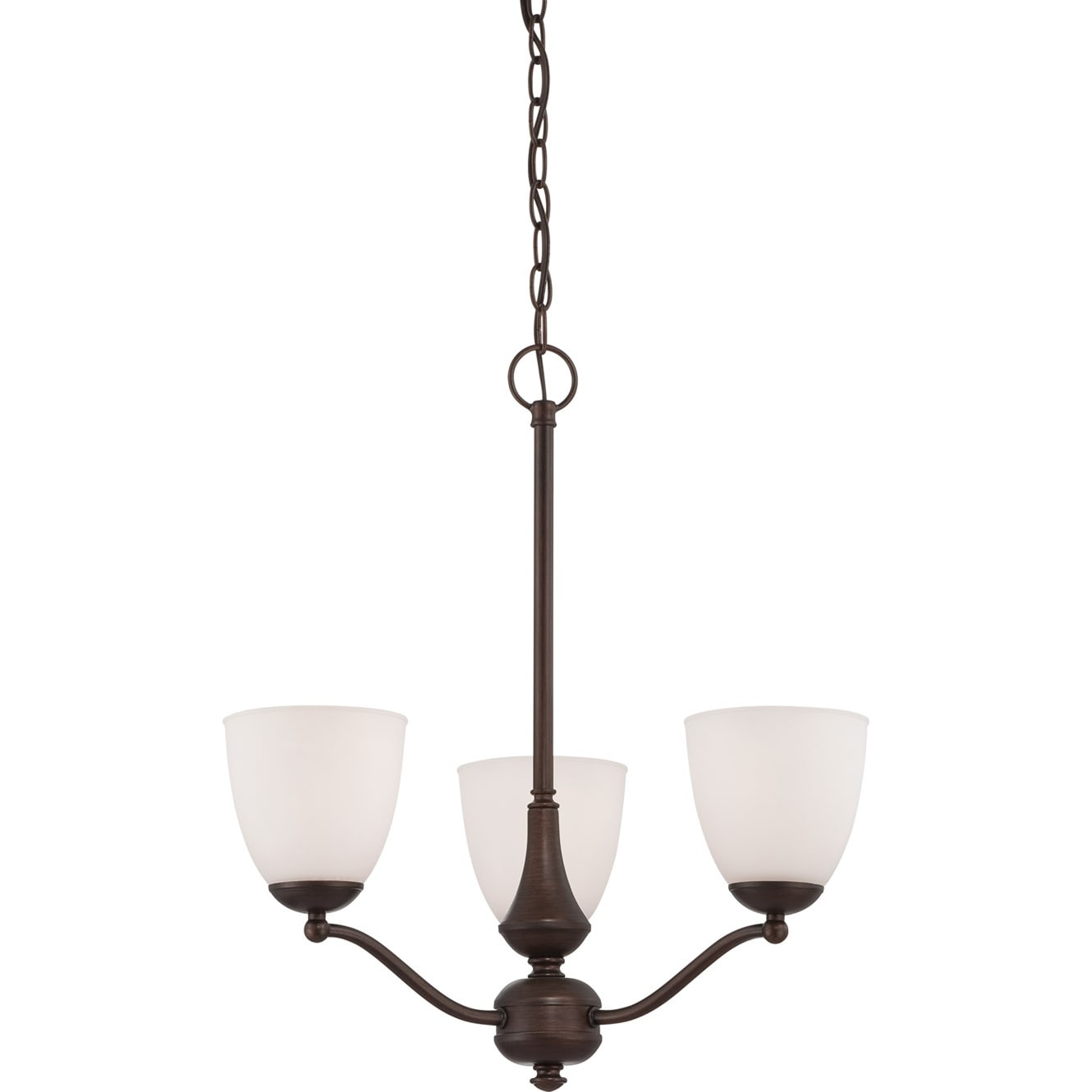 Nuvo Patton Three-Light 13-Watt Prairie Bronze Fluorescent Chandelier