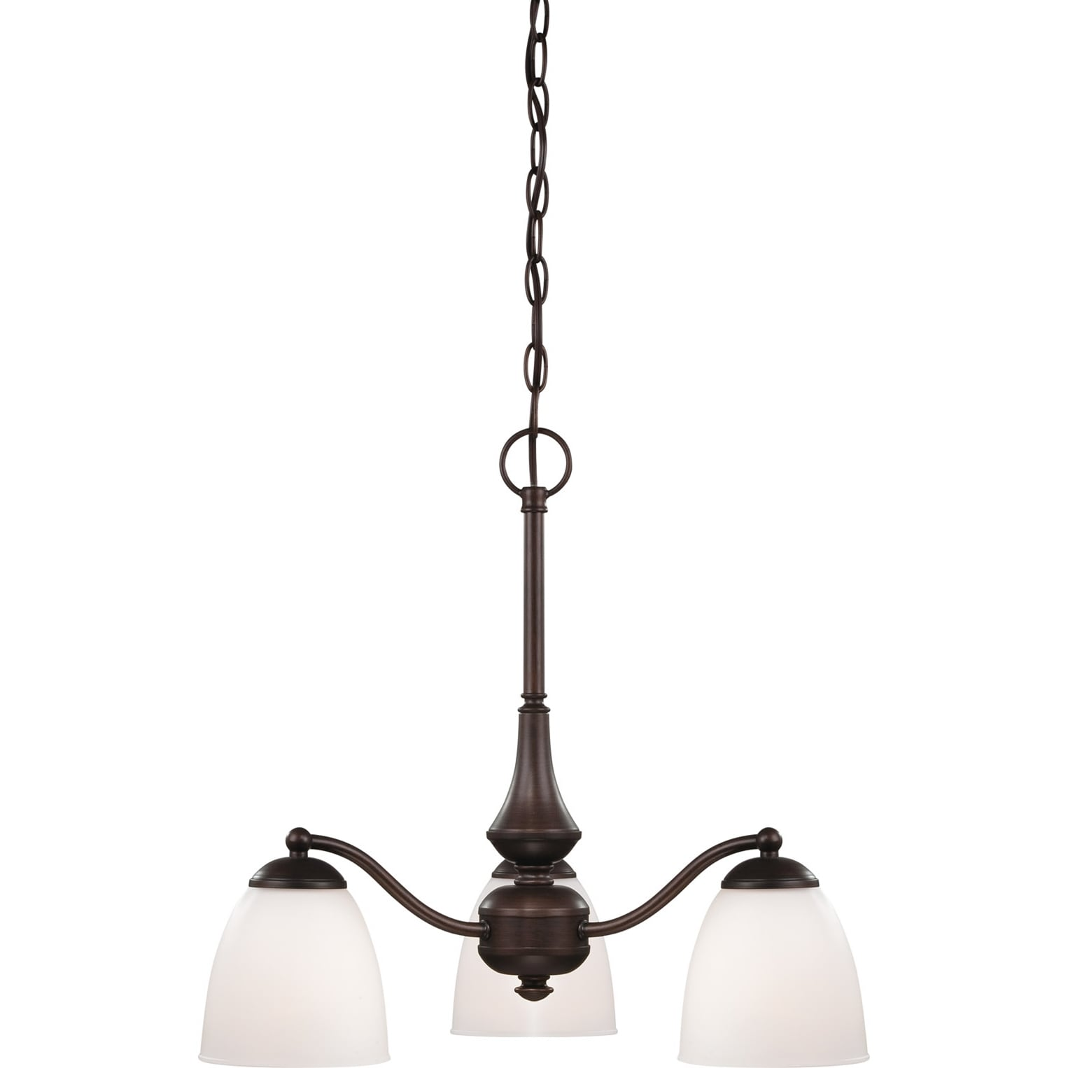 Nuvo Patton 3-light Prairie Bronze Fluorescent Chandelier