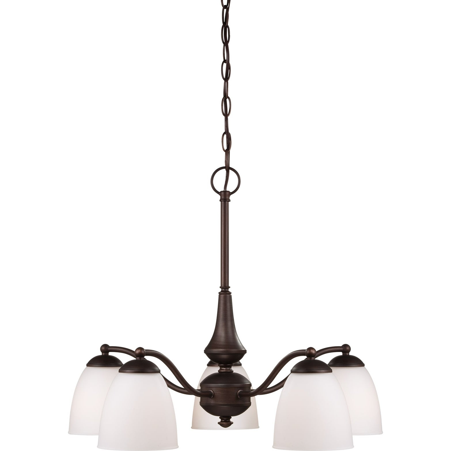 Nuvo Patton 5-light Prairie Bronze Fluorescent Chandelier