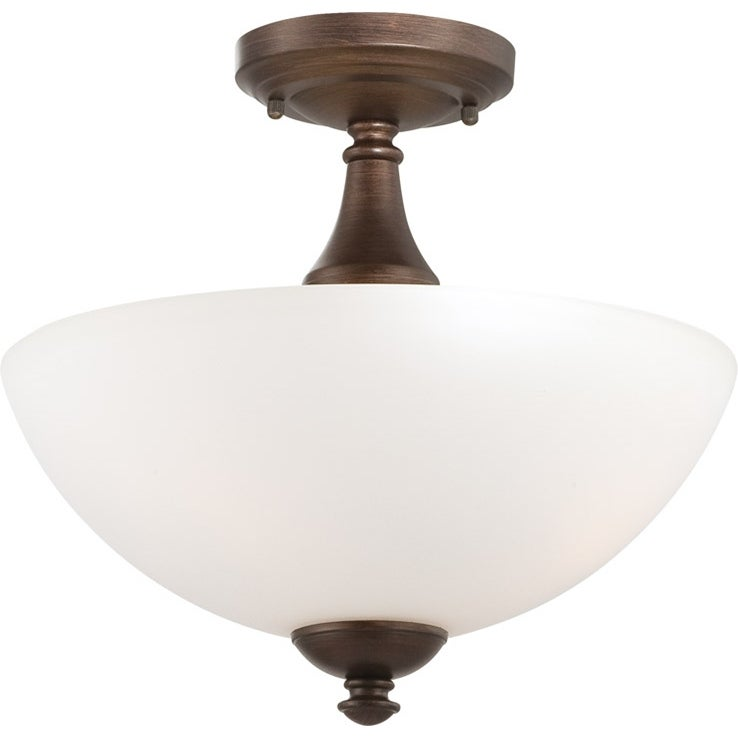 Nuvo Patton 3-light Prairie Bronze Fluorescent Semi-flush Fixture - Thumbnail 0