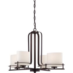 Nuvo Loren 4-light Venetian Bronze Chandelier