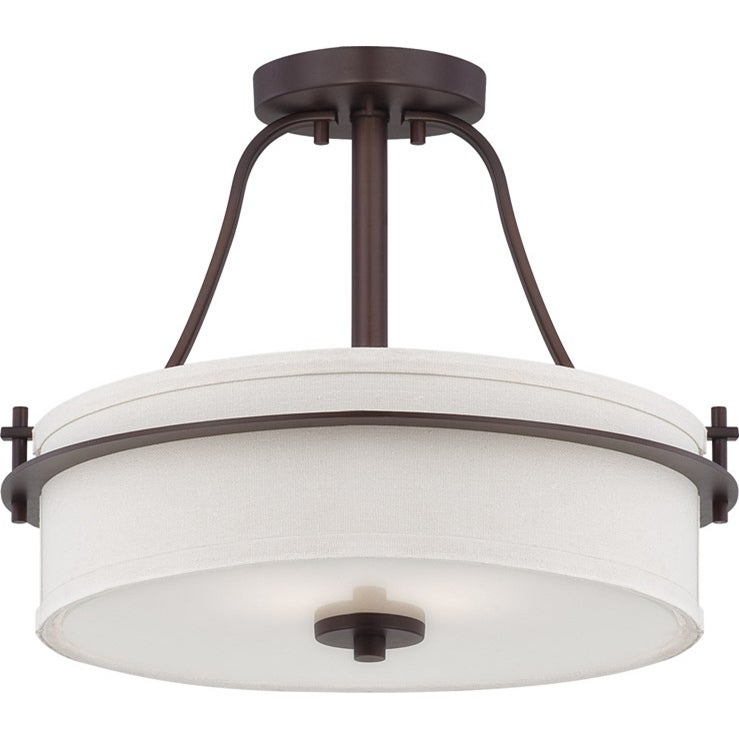 Nuvo Loren 2-light Venetian Bronze Semi-flush Fixture
