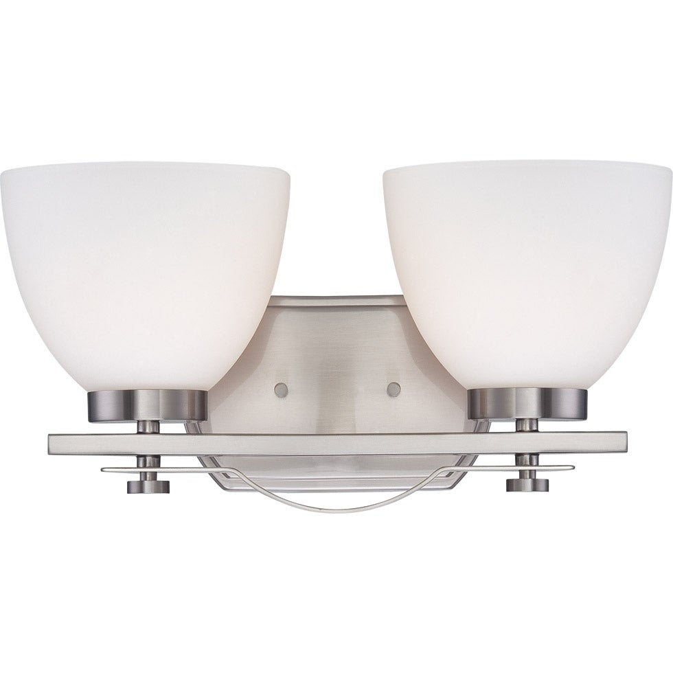 Nuvo Bentley 2-light Brushed Nickel Vanity Fixture