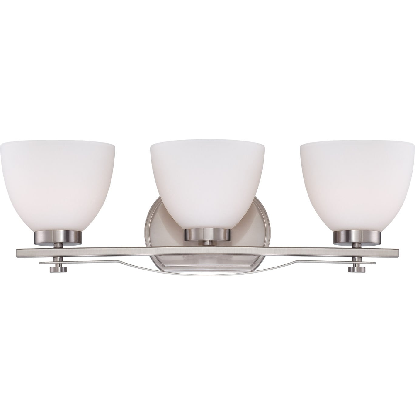 Nuvo Bentley 3-light Brushed Nickel Vanity Fixture - Thumbnail 0