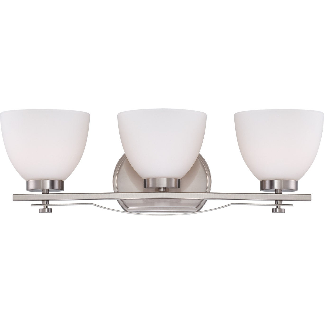 Nuvo Bentley 3-light Brushed Nickel Vanity Fixture