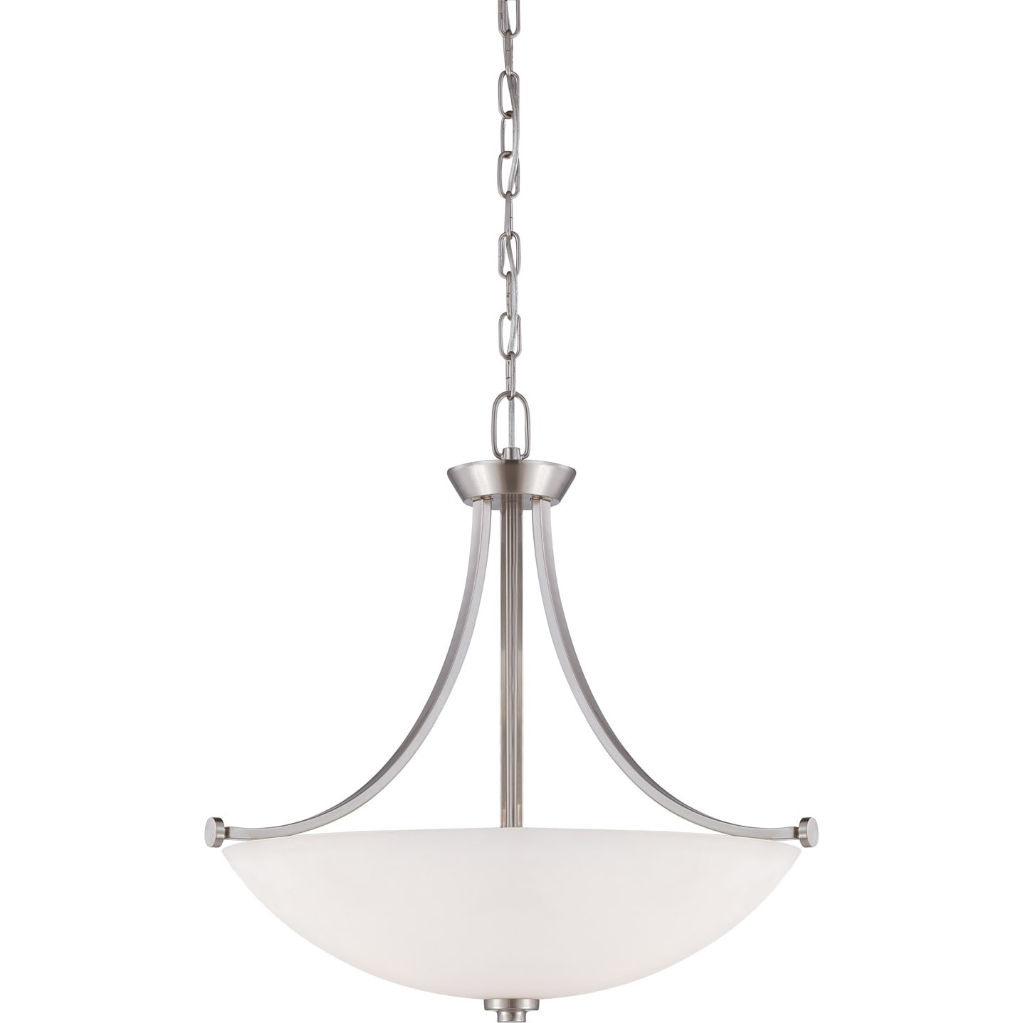 Nuvo Bentley 3-light Brushed Nickel Pendant