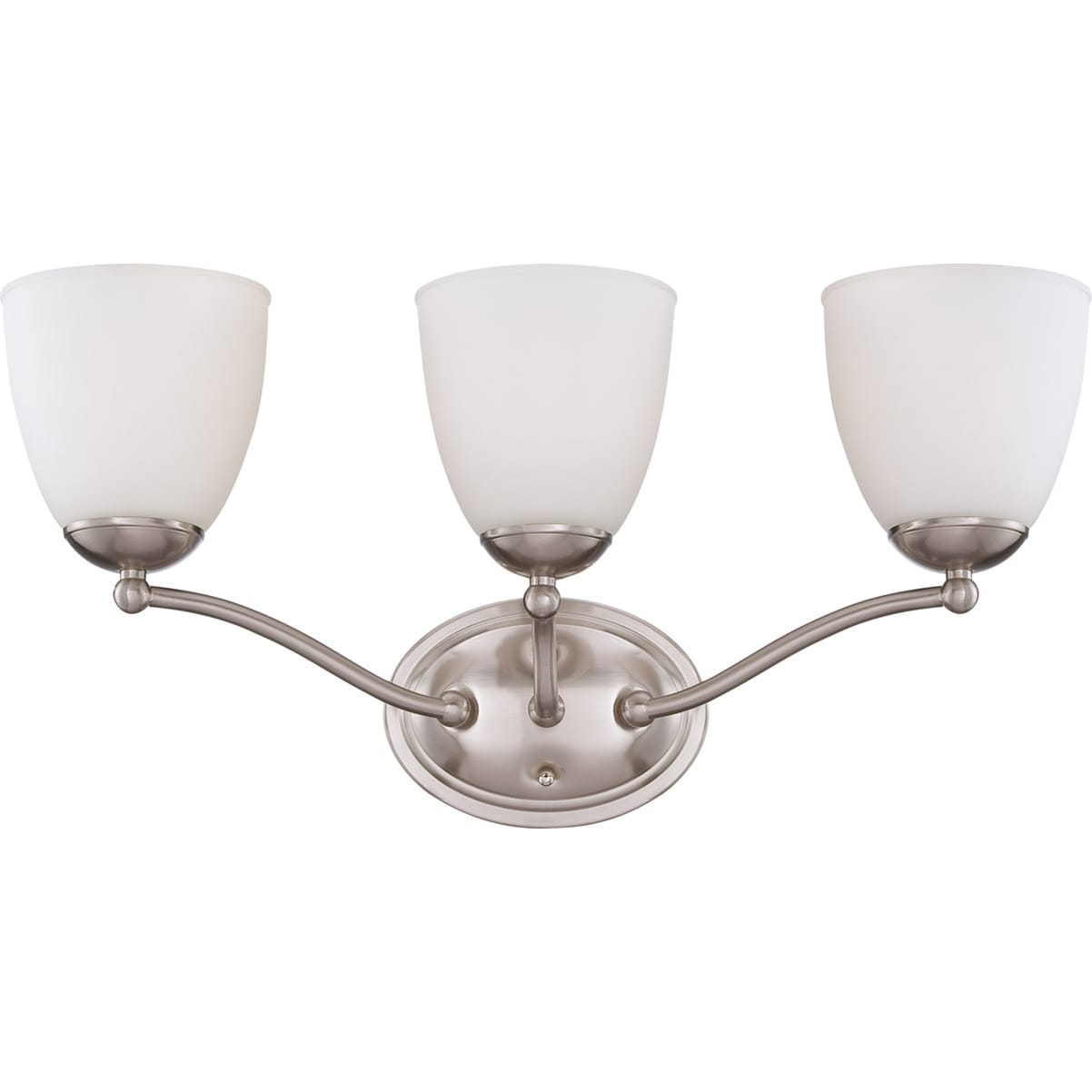 Nuvo 'Patton' 3-light Brushed Nickel Vanity Fixture
