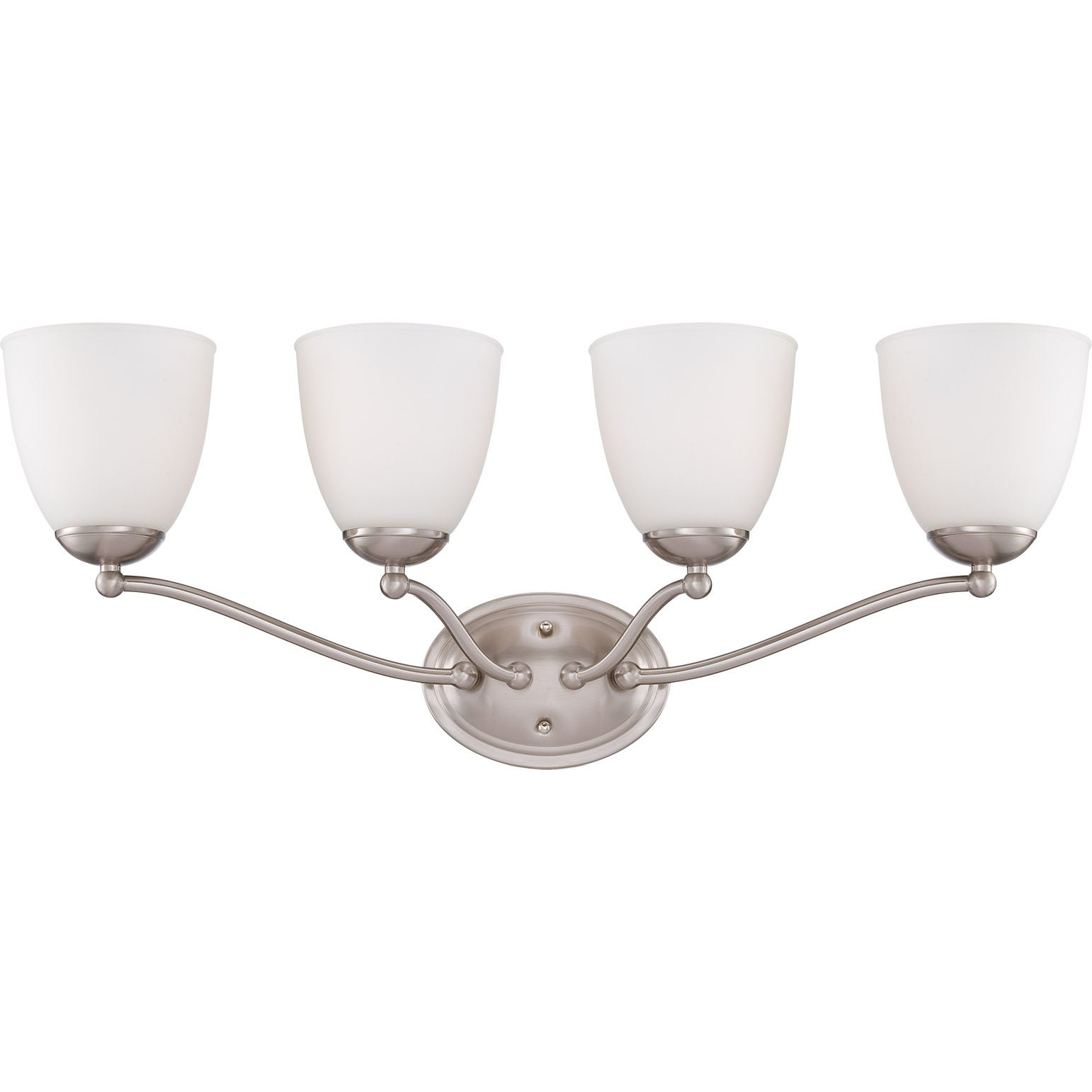 Nuvo 'Patton' 4-light Brushed Nickel Vanity Fixture
