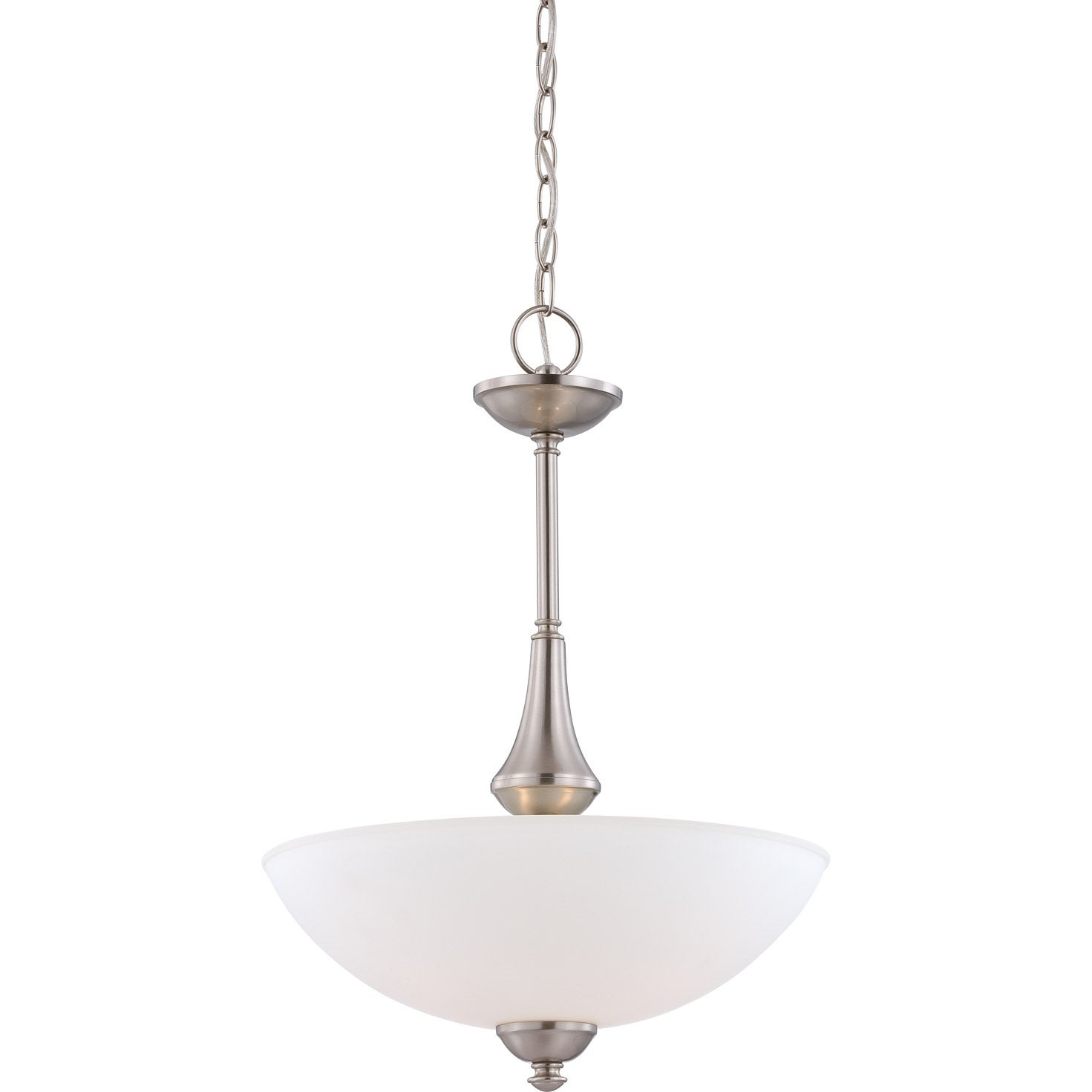 Nuvo 'Patton' 3-light Brushed Nickel Pendant