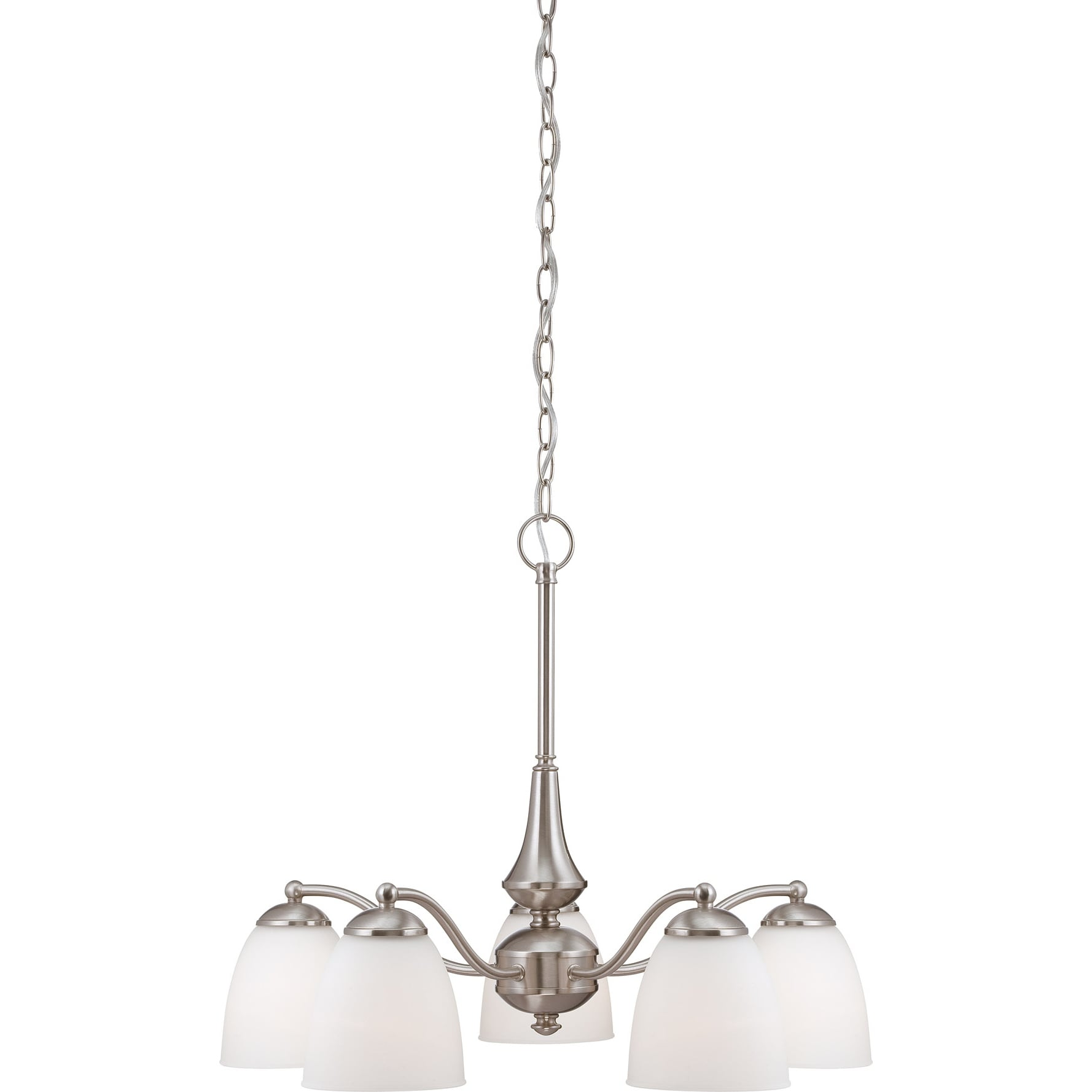 Nuvo 'Patton' 5-light Brushed Nickel Chandelier - Thumbnail 0