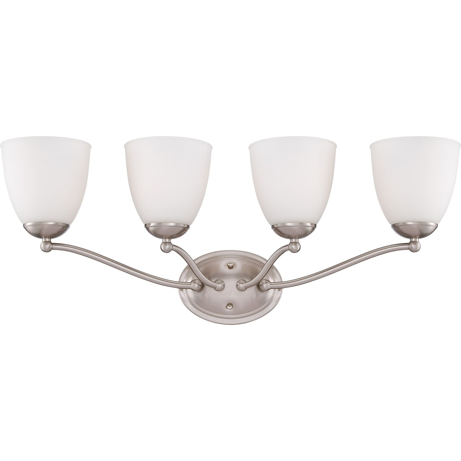 Nuvo 'Patton' 4-light Brushed Nickel Fluorescent Vanity Fixture - Thumbnail 0